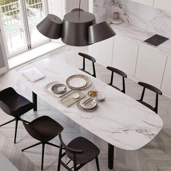 Carrara Mermer Yemek Masası