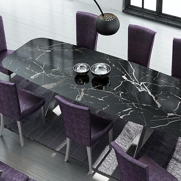 Cross Mermer Yemek Masası