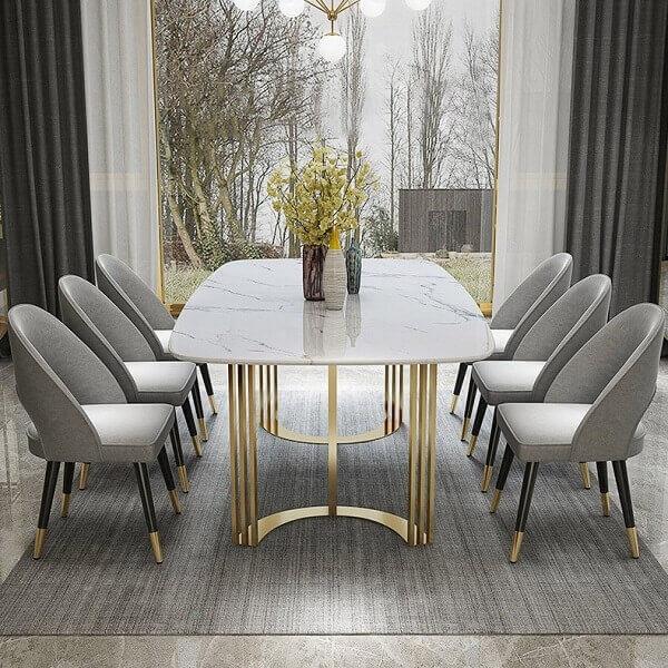 Marliy Mermer Yemek Masası