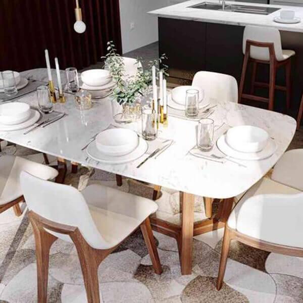 Piante Mermer Yemek Masası